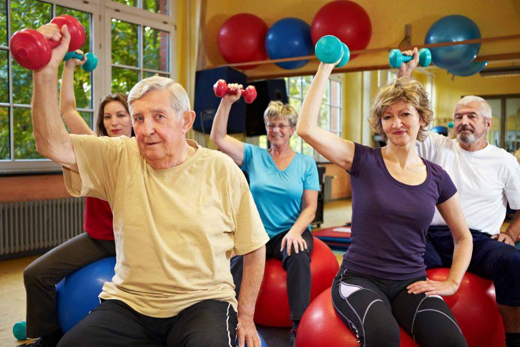 Pensioners-exercising